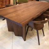 『土井木工・ダイニングテーブルBOULESにフジファニチャー・nagiアームチェアD04540Aをセット』の画像