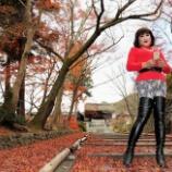 『【留美子讃歌 60】紅葉と美女の絢爛たる屏風画』の画像