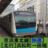 『京浜東北線【快速】車窓[北行]浜松町→田端』の画像