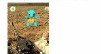 ISISと戦ってるアメリカ軍人さん、戦場のイラクでポケモンGOを起動してゼニガメをゲットする