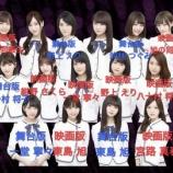 『【乃木坂46】19th選抜を 『舞台』『映画』チームで色分けしてみた結果・・・』の画像