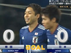 【 速報動画 】日韓戦!日本代表が先制!小林悠が落ち着いてPKを決めて1-0!