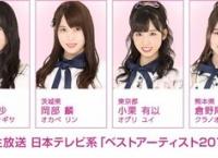 日テレ「ベストアーティスト2019」に坂口渚沙、岡部麟、小栗有以、倉野尾成美が出演!