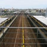 『高塚駅の旧駅舎と連絡橋の取り壊しの様子』の画像