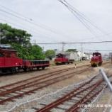 『▲炭鉱電車5並びのお片付け』の画像