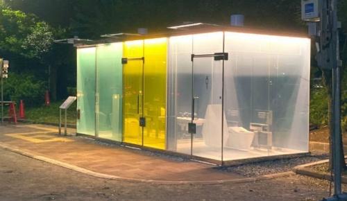 渋谷区の公園に設置された「透明トイレ」が海外でも話題に