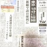 『埼京線にも羽田空港直通が走る? JR東日本の羽田東京新線の計画が日本経済新聞1面に掲載されました』の画像