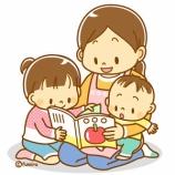 『【クリップアート】絵本を読む親子のイラスト』の画像