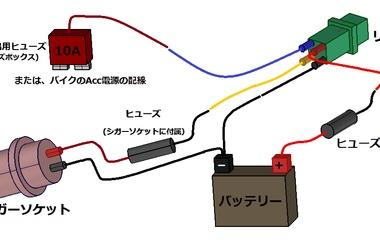『バイクから12V電源の取り出し方(結線編)』の画像
