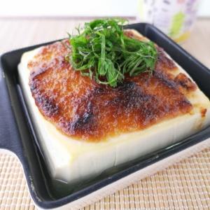強烈な味わい♪豆腐のにんにく味噌焼き