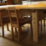 『栗のテーブル搬入・オープンアトリエ』の画像