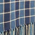 藍染め糸のマフラー