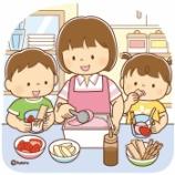 『【クリップアート】アイスクリーム・パフェを作る親子のイラスト』の画像