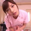激カワスレンダーナース「横山美雪」がかわいい看護婦コスプレで素股と手コキして脚コキする!