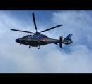 スカイフィッシュのようなヘリコプターが撮影される