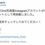 『【乃木坂46】なぜ今・・・公式から謎のタイミングで堀未央奈インスタ再開の告知が・・・』の画像