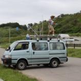 『2016年 7月16日 夕日海岸移動(深浦町・風合瀬海水浴場)』の画像