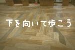 『下を向いて歩こう』シリーズ〜交野市駅ビルの下のほうに輝く◎◎の巻〜