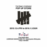 『12/4〜Fred Segal × UNDEFEATED POP UP STORE』の画像