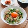 スタミナ豚丼 卵も野菜もお肉も摂れる!簡単レシピ