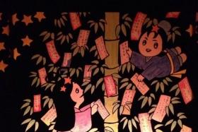 『天の川星まつり』に展示されていた短冊作品の願いの本気度が切実だ ~七夕会場の天の川沿いにある織姫・ひこぼしのボード作品です~