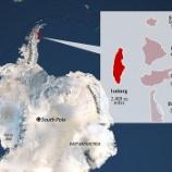 『A68:史上最大級の氷山誕生』の画像