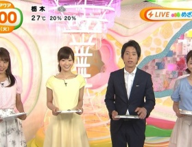 【画像】めざましテレビアクアの岡副麻希アナ(22)が今日も黒すぎる