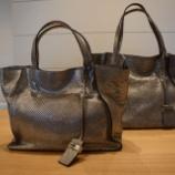 『GIANNI CHIARINI  (ジャンニ キャリーニ)箔加工バッグ』の画像
