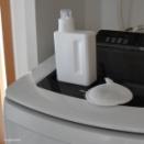 洗たくマグちゃん=洗浄+消臭+除菌◇液体洗剤と一緒にお洗濯