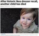 8人目の犠牲者 IKEA家具の下敷きになり2歳男児が死亡(米)