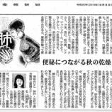 『便秘につながる秋の乾燥|産経新聞連載「薬膳のススメ」(53)』の画像