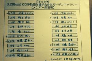 アイドリング!!!握手会の最新メンバー配置表