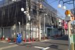 近畿大阪銀行「交野支店」が外装工事中。白いシートも被ってる!