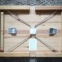 【ダイソー神アイテム】人気のキャスターを使って折り畳みテーブルをスッキリらくらく収納