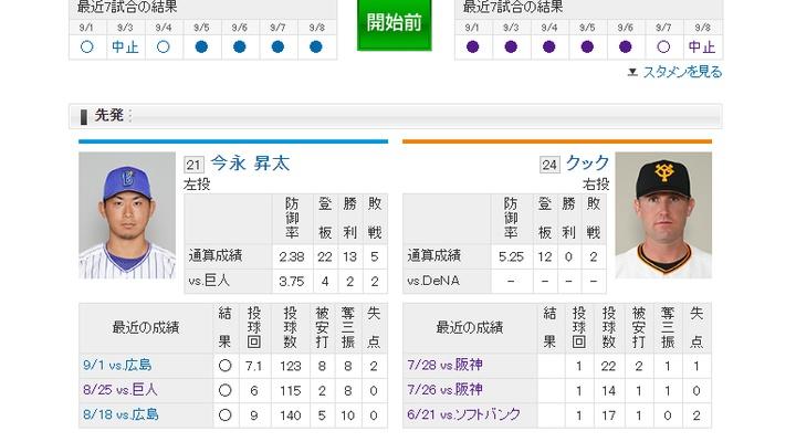 【 巨人実況!】vs DeNA![9/10]  先発はクック!捕手は小林!