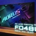 4K/120Hzの有機ELゲーミングモニタ「AORUS FO48U」が発売。HDMI2.1搭載で4K/120Hz対応