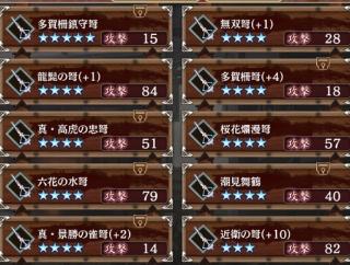 【城プロ】景勝が武器くれたので、石弓に手を出そうかと思うんですが誰かおすすめとかありますか?