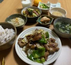 小鉢多めのご飯と手抜き弁当