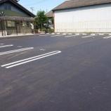 『愛知県一宮市大和町 月極駐車場 アスファルト舗装工事 施工事例』の画像