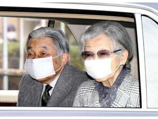 上天皇夫妻 マスク姿で高輪仙洞仮御所入り 200人以上の出迎え