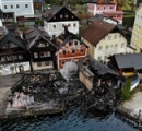 世界遺産の町ハルシュタットで火災、オーストリア