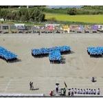【画像】滋賀の中学生600人が平和行進、「ヘイワ」の人文字 「戦争の恐ろしさを忘れないで」