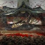 【中国】南京大虐殺記念館の記念碑が靖国神社の拝殿を押し潰し血が飛び散る絵に支持多数!
