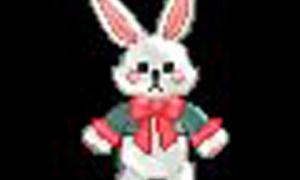 オシャレな紳士ウサギのぬいぐるみ