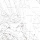 『谷底を眺める女子の絵_(下描き)』の画像