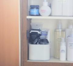 【ダイソー】冷蔵庫収納で話題のあのグッズで...洗面室の収納をプチ改善しました!
