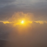 『ハート雲とご来光』の画像