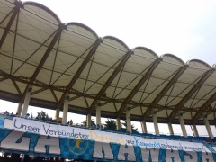 川崎、ドルトムントに応援メッセージ!等々力に掲げられた「横断幕」
