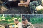 野生の子熊をペットとして飼っていたロシア人 骨にだけになって発見される