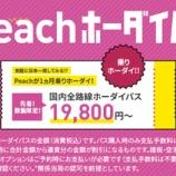 『お得なの?10月19日12時、11月乗り放題の「Peachホーダイパス」販売』の画像